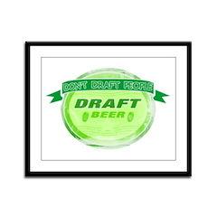 Draft Beer Framed Panel Print