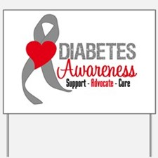 Diabetes Support Cure Yard Sign
