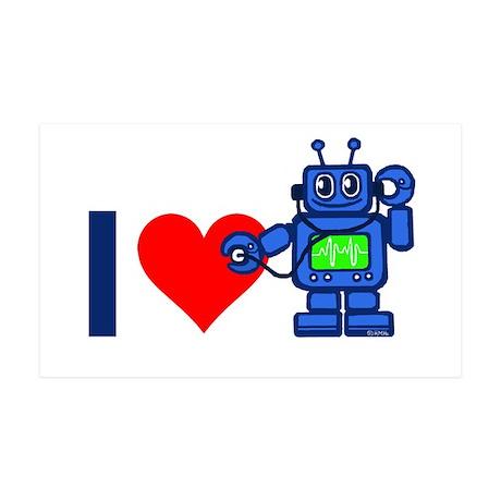 I heart robot 38.5 x 24.5 Wall Peel