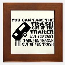 Trailer From Trash Framed Tile