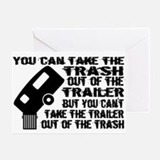 Trailer From Trash Greeting Card