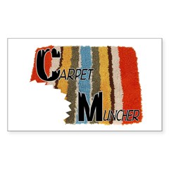 Carpet Muncher Sticker (Rectangle 50 pk)