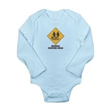 Mermaid Crossing Ahead Long Sleeve Infant Bodysuit