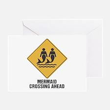 Mermaid Crossing Ahead Greeting Card