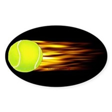 Tennis Flames Oval Decal
