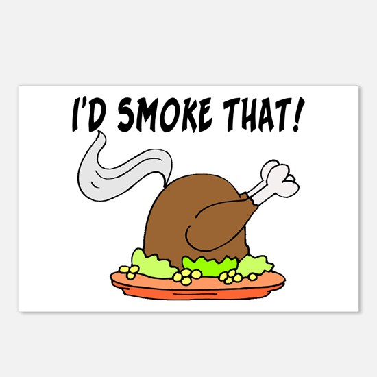 I'd Smoke That Turkey Postcards (Package of 8)