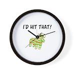 I'd Hit That Pinata Wall Clock