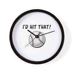 I'd Hit That Baseball Wall Clock