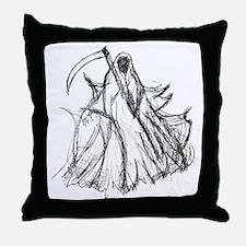 Death Reaper Throw Pillow