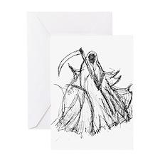 Death Reaper Greeting Card