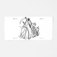 Death Reaper Aluminum License Plate