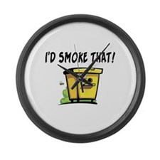 I'd Smoke That Bee Hive Large Wall Clock