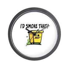 I'd Smoke That Bee Hive Wall Clock