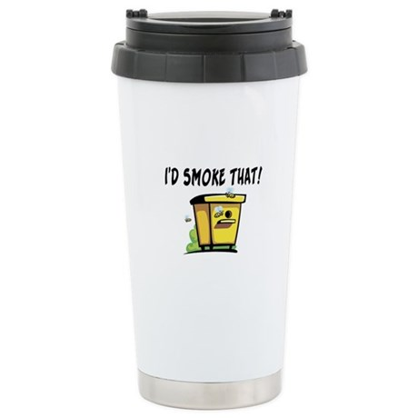 I'd Smoke That Bee Hive Stainless Steel Travel Mug