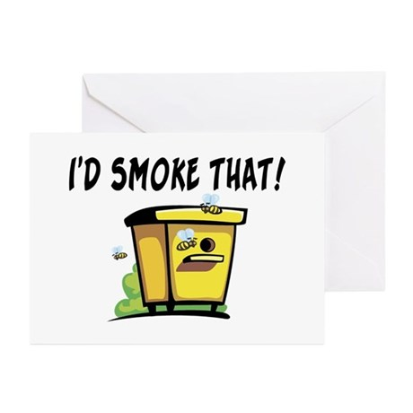 I'd Smoke That Bee Hive Greeting Cards (Pk of 10)