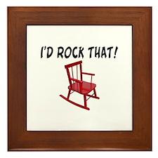 I'd Rock That Chair Framed Tile