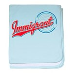Baseball Immigrant baby blanket