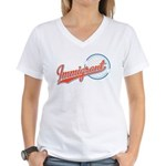 Baseball Immigrant Women's V-Neck T-Shirt
