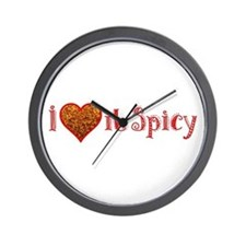 I Love it Spicy Wall Clock