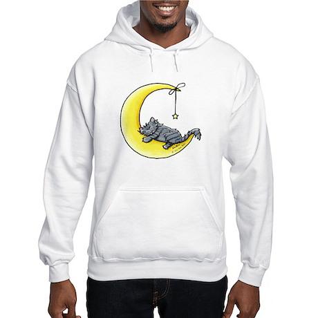Gray Tabby Lunar Love Hooded Sweatshirt