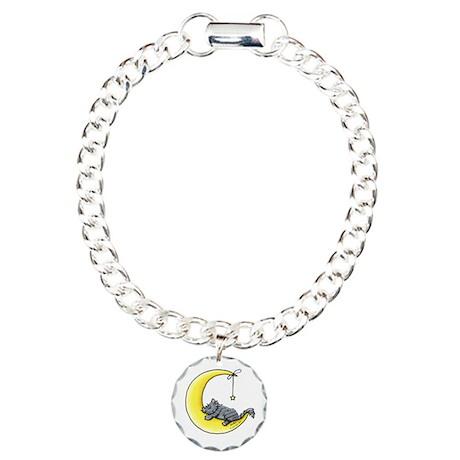 Gray Tabby Lunar Love Charm Bracelet, One Charm