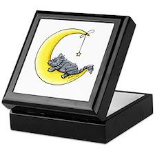 Gray Tabby Lunar Love Keepsake Box