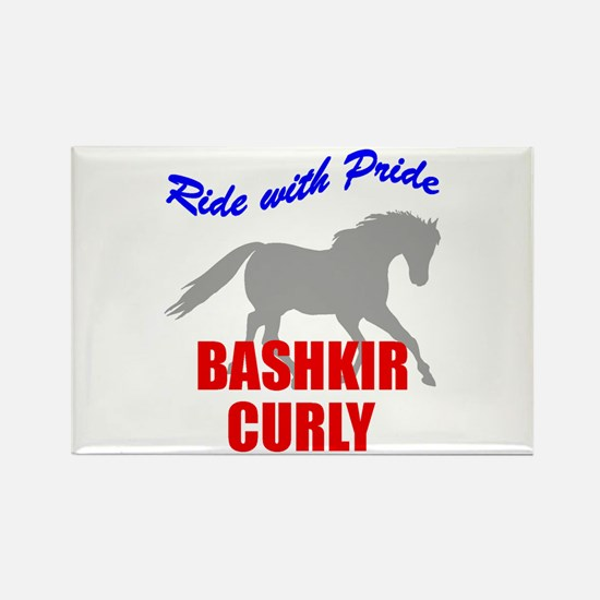 Ride With Pride Bashkir Curly Rectangle Magnet