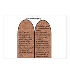 The Ten Commandments Postcards (Package of 8)