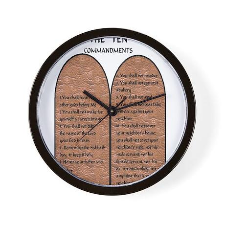 The Ten Commandments Wall Clock