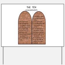 The Ten Commandments Yard Sign