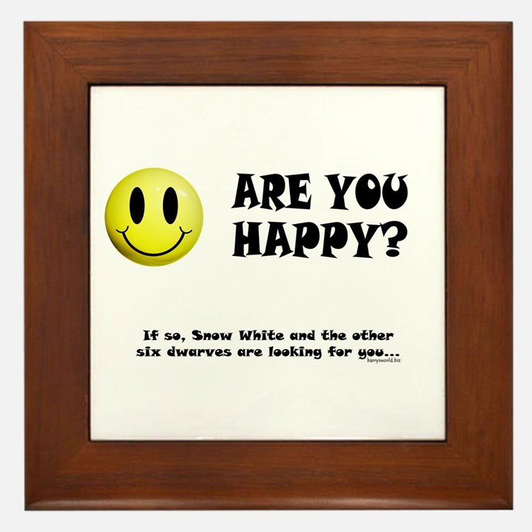 Happy? Framed Tile