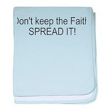 Spread the Faith baby blanket