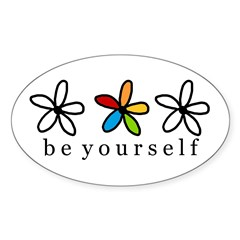 be yourself Oval Decal