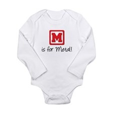M is For Metal Long Sleeve Infant Bodysuit