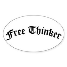 Free Thinker (Old Style) Decal