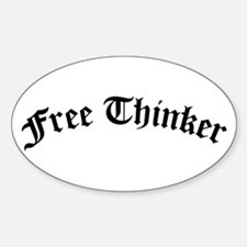 Free Thinker (Old Style) Sticker (Oval)