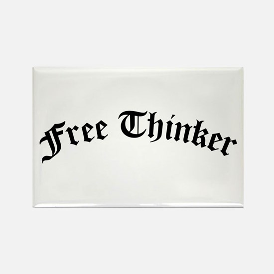 Free Thinker (Old Style) Rectangle Magnet (10 pack