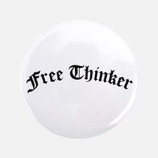 """Free Thinker (Old Style) 3.5"""" Button (100 pack)"""