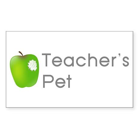 Teacher's Pet Rectangle Sticker