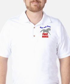 Ride With Pride Paint Horse Golf Shirt