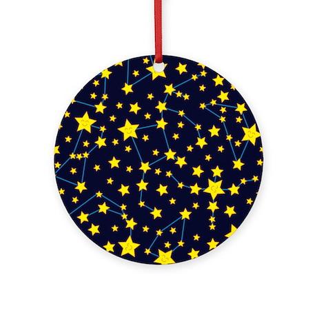 Happy Star Chart Ornament (Round)