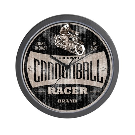 CANNONBALL RACER Wall Clock