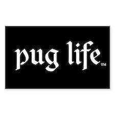 Pug Life Rectangle Decal