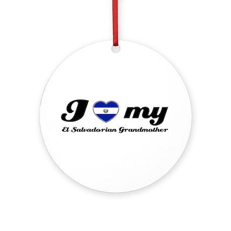 I love My El Salvadorian Grandmother Ornament (Rou