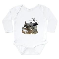 Big game elk and deer Long Sleeve Infant Bodysuit