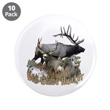 "Big game elk and deer 3.5"" Button (10 pack)"