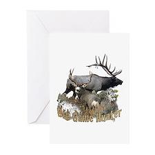 Big game elk and deer Greeting Cards (Pk of 10)