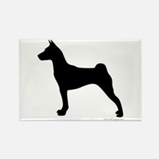 Basenji Silhouette Rectangle Magnet