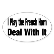 Funny French horn Decal