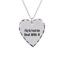 Unique Horn Necklace Heart Charm